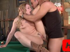 Lexi Plays With His Balls On The Billiard Table