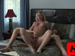 Riley Steel Gets Bombarded With Cum